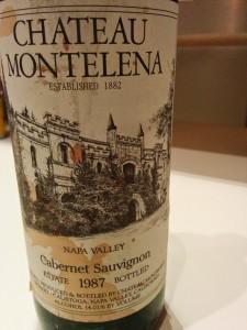 Montelena Cabernet Sauvignon Estate 1987